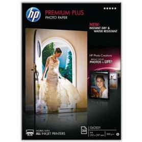 HP Premium Plus papier photo ft A4, 300 g, paquet de 20 feuilles, brillant