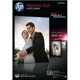 HP Premium Plus papier photo ft 10 x 15 cm, 300 g, paquet van 25 feuilles, brillant