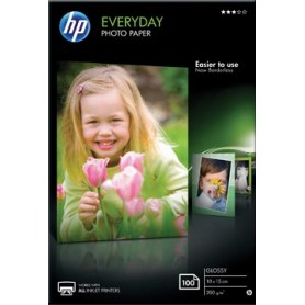 HP Everyday papier photo, ft 10 x 15 cm, 200 g, paquet van 100 feuilles, brillant