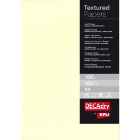 PACK 100F A4 PAPIER VERGE CREME 100G