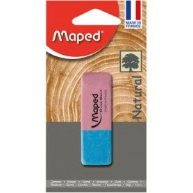 Maped gomme Duo-Gom format large, blister de 1 pièce