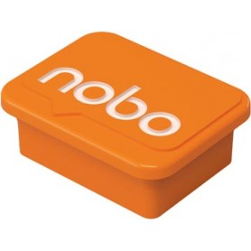 Nobo aimants pour tableau blanc, orange, paquet de 4