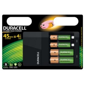 Duracell chargeur Hi-Speed Value Charger, 2 AA en 2 AAA piles inclus, sous blist