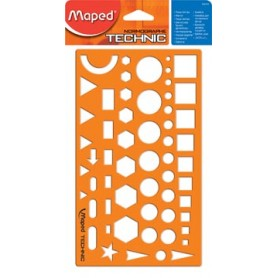 Maped gabarit, figures diverses, sous blister