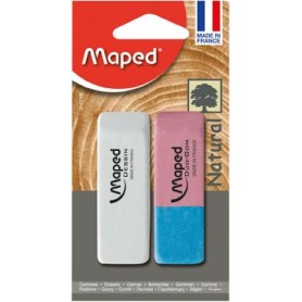 Maped gomme Dessin   gomme Duo-Gom, sous blister