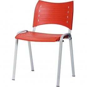 CHAISE ELISA  MULTI USAGE EMPILABLE  ROUGE