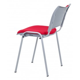 CHAISE MULTI USAGE EMPILABLE  TINA ROUGE