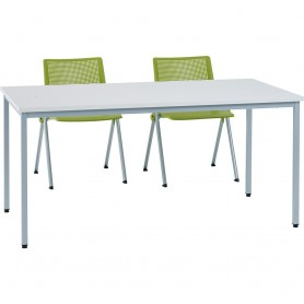 TABLE CONFERENCE POLY 120X60 COLORIS GRIS