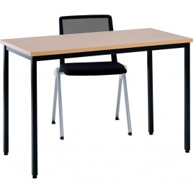 TABLE CONFERENCE POLY 120 60 COLORIS HETRE
