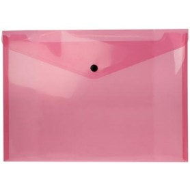 Beautone pochette documents, A4, rouge transparent