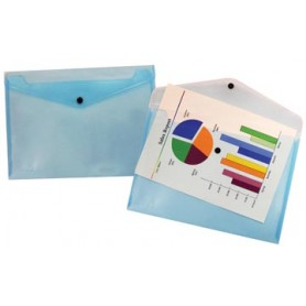 Beautone pochette documents, A4, bleu transparent