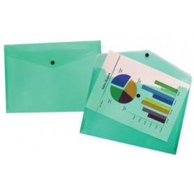 Beautone pochette documents, A4, vert transparent