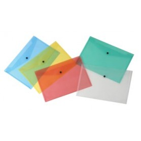 Beautone pochette documents, A4, en couleurs assorties transparentes
