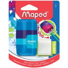Maped taille-crayon   gomme Connect Soft Touch, sur blister