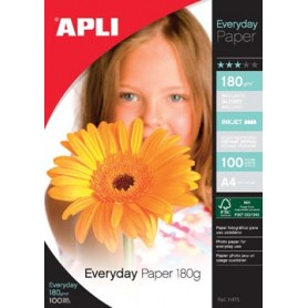 Apli papier photo Everyday ft A4, 180 g, paquet de 100 feuilles