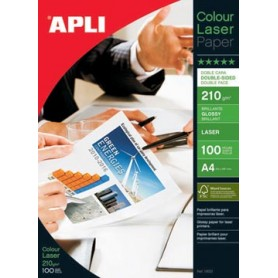 Apli papier photo Colour Laser ft A4, 210 g, paquet de 100 feuilles