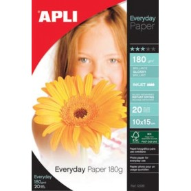 Apli papier photo Everyday ft 10 x 15 cm, 180 g, paquet de 20 feuilles