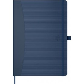 Oxford Signature Business Journal avec couverture rigide, ft A5, quadrillé 5 mm, bleu