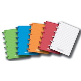 Adoc carnet de notes Colorlines, ft A6, ligné, couleurs assorties