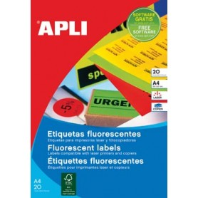 Apli étiquettes fluorescentes 64 x 33,9 mm (l x h) orange
