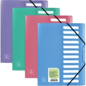OXFORD 2nd Life trieur, format A4, en PP, 12 onglets, couleurs assorties