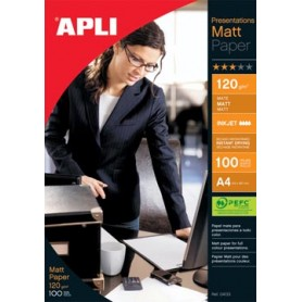 Apli papier photo Presentations Matt ft A4, 120 g, paquet de 100 feuilles