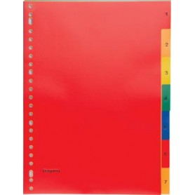 Pergamy intercalaires, ft A4, perforation 23 trous, PP, couleurs assorties, set