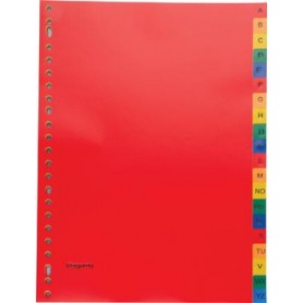 Pergamy intercalaires, ft A4, perforation 23 trous, PP, couleurs assorties, A-Z
