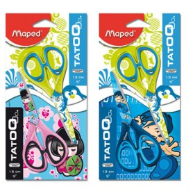 Maped ciseaux Tatoo Child blister de 2 pièces
