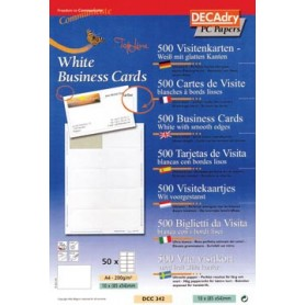 Decadry cartes de visite TopLine, 500 cartes, 10 cartes ft 85 x 54 mm par A4, co
