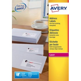 Avery L7159, Etiquettes adresses, Laser, Ultragrip, blanches, 40 pages, 24 per p