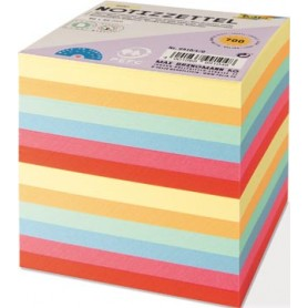 Folia  Notes, ft 90 x 90 mm, recharge pour cube-mémo feuillets en couleurs assorties